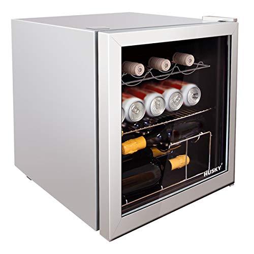 Retro Mini-Kühlschrank Husky silber