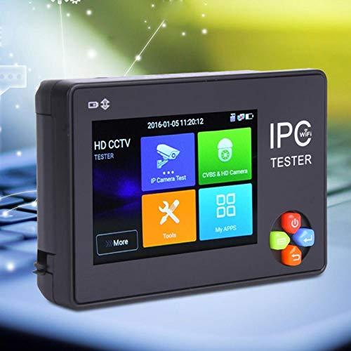 AHD Tester IPC Tester IP Camera Tester decodificación de Hardware TVI Tester HD Pantalla táctil capacitiva tamaño Compacto para(100V-240V European Plug)