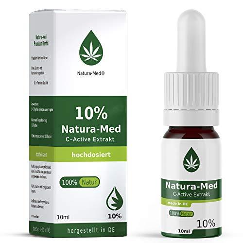 Preisvergleich Produktbild NATURA-MED 10% C-ACTIVE 10ml / Natur Öl Tropfen - LABORGEPRÜFT - Premium Rohstoffe und zertifizierte Produktion