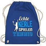 Shirtracer Tennis - Echte Kerle spielen Tennis - Unisize - Royalblau - blaue tennis - WM110 - Turnbeutel und Stoffbeutel aus Baumwolle