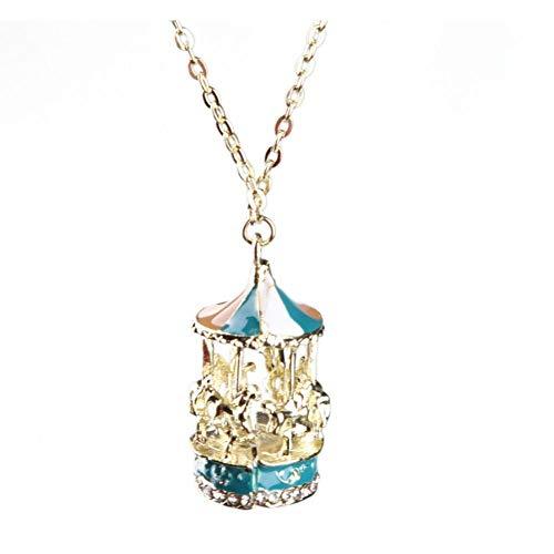 LKYH Envío de la Gota Accesorios de joyería Cadena de suéter de Collar de aleación de Goteo Largo en Forma de carrusel
