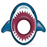 Jasonwell Inflatable Shark Pool Float Shark Floaties Water Fun Summer Beach Swimming Pool Tube Inflatables Ride on Pool Party Raft Lounge Toys for Kids Adults