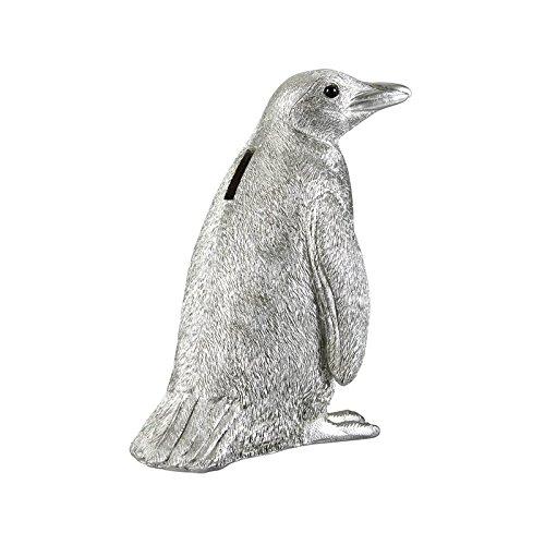 Spardose Pinguuin Silber