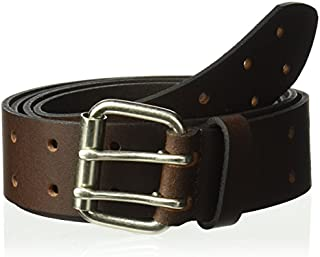 Dickies Men's 100% Leather Belt with Double Prong Buckle, Heavy Duty Construction