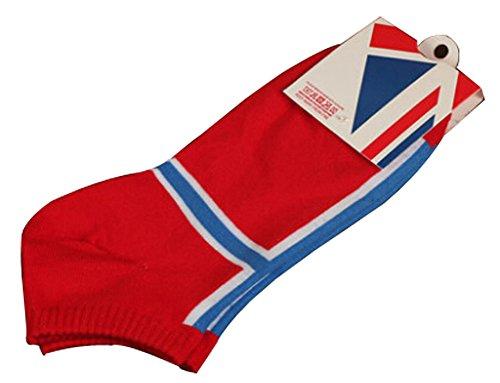 BLANCHO BEDDING Lot de 2 Flag Chaussettes en Coton Chaussettes pour Hommes Norvège #01