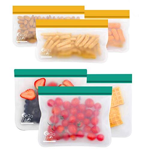 OrgaWise Lebensmittel Beutel Koch Beutel Küche Beutel Food Grade Vielseitige Konservierung Tasche für Wiederverwendbare für Obst Gemüse Milch Snack Bags Food Storage Bags(6 stück)