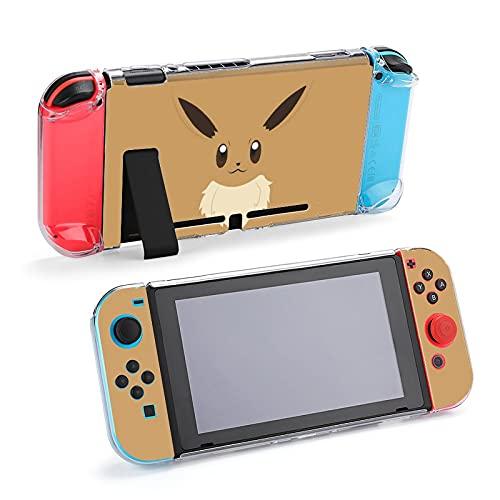 イーブイ Nintendo Switch用カバーカバー 任天堂スイッチカバー 分体式カバー スイッチケース 任天堂スイッチ ゲーム機 収納バッグ 収納ポーチ 全面保護 薄型 耐衝撃 人気 可愛い キャラクター
