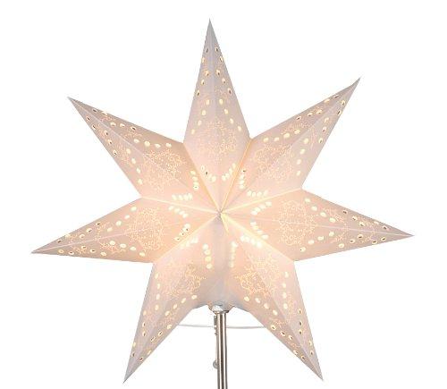"""Best Season Papier-Ersatzstern""""Sensy Mini Star 34"""" Durchmesser 34 cm, inklusive Halterung, Vierfarb-Karton, crème 231-28"""