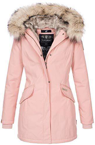 Navahoo Damen Winter Jacke Parka Mantel Winterjacke warm Kunstfell Premium B669 [B669-Christa-Rosa-Gr.XL]