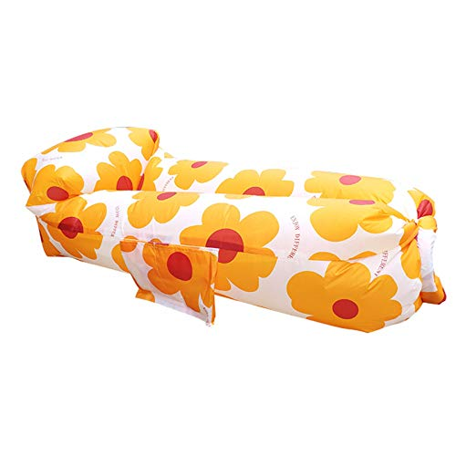 GQFGYYL Tumbona Inflable Air Sofa Sofá con Almohada, Sofá Cama PortáTil Saco de Dormir para Interior/Exterior, Camping, Sacos de CompresióN Ideales para Picnic en el Patio Trasero Junto Al Lago
