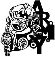 LGSMRP 車のステッカー、ステッカー13 * 13.7cmのしっかりとした勇敢な兵士をカバーするボディファッション車のステッカー戦士デカール黒/銀ビニール車のステッカー、ステッカー(カラー名:銀) LGSMRP (Size : Black)