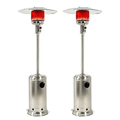 2 Set Outdoor Gas Patio Heater Outdoor Heater Propane Gas Portable Commercial Standing Outdoor Heater Patio Heater Propane 48000 BTU.