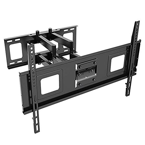 Soporte para TV, Soporte de Montaje en Pared para TV para televisores Planos y curvos 4K OLED LCD LED de 40-70'de hasta 60 kg Soporte Giratorio inclinable para TV con Nivel de Burbuja