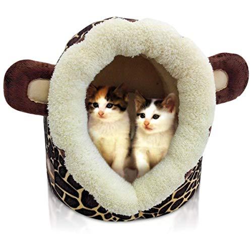 Katzenhöhle Katzen Bett Katzenhaus Pet Katzenbett Löwe oder Giraffen Optik B32 x L36 x H30 cm Schlafplatz. Auch für kleine Hunde geeignet (Bitte fordern Sie Ihr bevorzugtes Modell per E-Mail an)