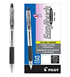 PILOT EasyTouch Refillable & Retractable Ballpoint Pens, Fine Point, Black Ink, 12 Count (32210)