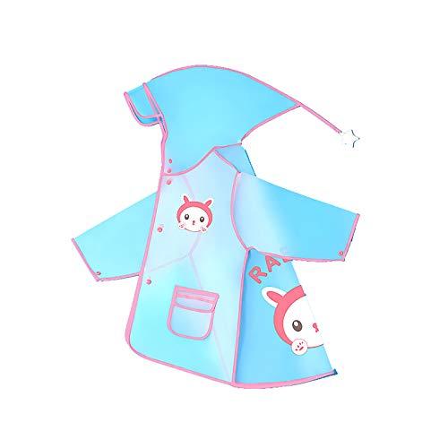 Mancool Regenmantel Atmungsaktiv Kinder Regen Overall Regenjacke Mädchen Regenponcho Jungen Wasserdicht Kinderregenmantel Reflektoren Regenbekleidung mit Tiermuster Kapuze
