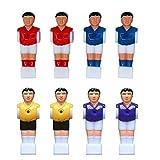 VILLCASE 8Pcs Desktop Foosball Spiel Spielzeug Kunststoff Fußball Foosball Mann Foosball Spieler...