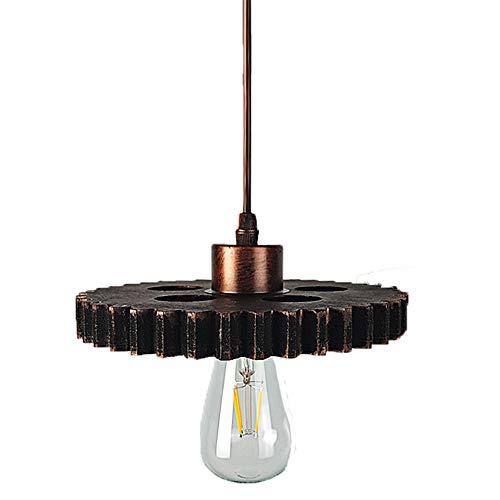 Vintage industriële Gear hanglamp tinten Retro Gearwheel kroonluchter lampenkap E27 metalen Hangend Plafondlamp voor Meisje Keuken Slaapkamer Badkamer Binnen Woonkamer Boerderij Decor