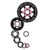 SunRace - Caja de cambios para mountain bike 11 V, 11-46 dientes, Shimano, de aluminio negro