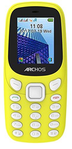 Archos 503557 Core 18f Handy und MP3-Player, Taschenlampe, Dual-SIM, Bluetooth Gelb