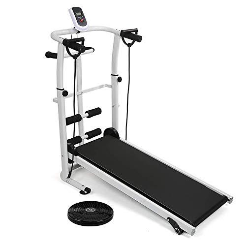 Cinta de correr mecánica 3 en 1 con cintura giratoria Sit Up Mango absorbente de sudor Múltiples métodos de ejercicio con un máximo de 150 kg, adecuado para la máquina de ejercicios de gimnasio de ofi