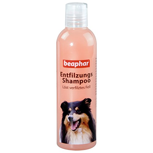 Beaphar Entfilzungs-Shampoo | Hundefell entfilzen | pH neutral | Fellpflege für langhaarige Hunde | Entfilzung ohne Schermaschine | 250 ml