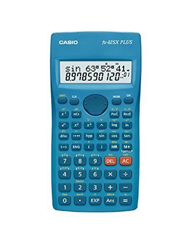 Casio FX-82SX Plus - Calculadora, 19.5 x 78 x 155 mm, azul