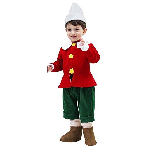Vestito Costume Maschera di Carnevale Primi Passi - Pinocchio - Taglia 19/24 Mesi - 68 cm