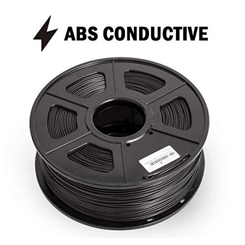 Hello ABS filament, 3D printed filament 1kg, black ABS conductive filament 1kg, 1.75mm/3.0mm optional (Size : 3.0mm)