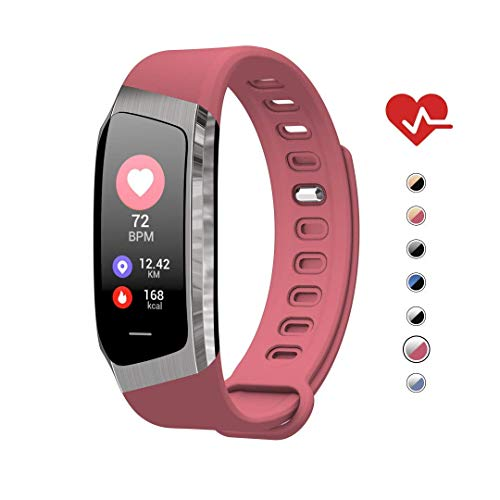 AOE Fitness Tracker, Activity Tracker Health Exercise Band with Heart Rate and Blood Pressure, Waterproof Smart Watch with Step, Calorie, Sleep Monitor, SMS Call Pedometer, Best for Kids Women Men