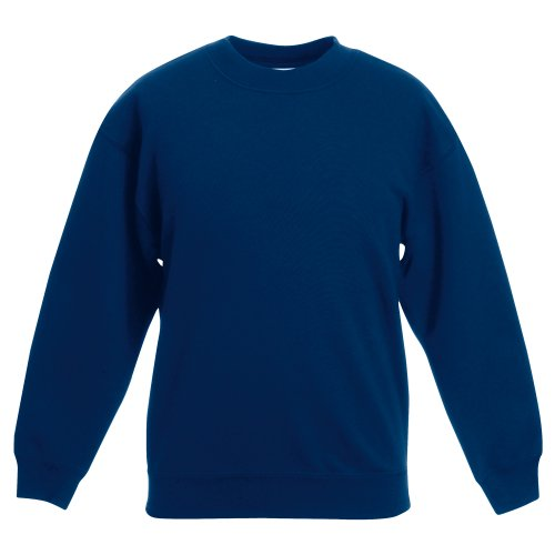 Fruit of the Loom Kids Unisex Classic 80/20 Set-In Sweatshirt (12-13) (Navy)