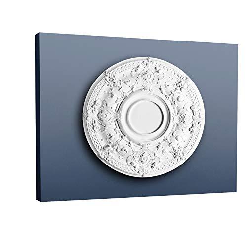 Rosetón Florón Elemento decorativo de estuco Orac Decor R38 LUXXUS para techo o pared Resistente 71 cm diámetro
