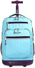 J World New York Sundance Laptop Rolling Backpack, Sky Blue, One Size