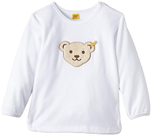 Steiff Steiff Unisex - Baby Sweatshirt 1/1 Arm, Gr. 86 (Herstellergröße: 86), Weiß (bright white white 1000)