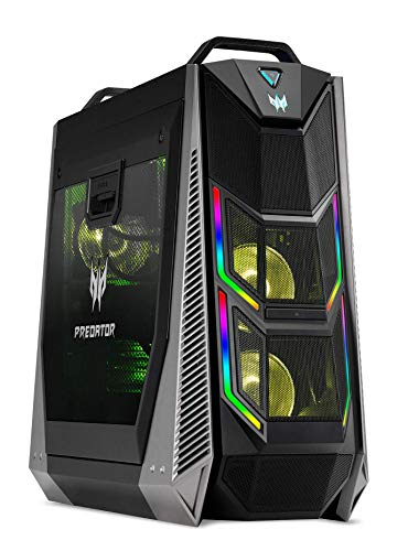 Acer Predator Orion 5000 605S, Gaming Desktop Computer (Intel i7-9700K, 16GB DDR4 RAM, 512GB PCIe NVMe SSD + 2TB HDD 7200 RPM, NVIDIA RTX 2060 Super 8GB GDDR6 DVI/HDMI/3xDP, Windows 10 Home)