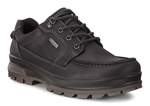 ECCO Men's Rugged Track Gore-TEX Moc Tie Hiking Shoe, Black, 45 M EU (11-11.5 US)