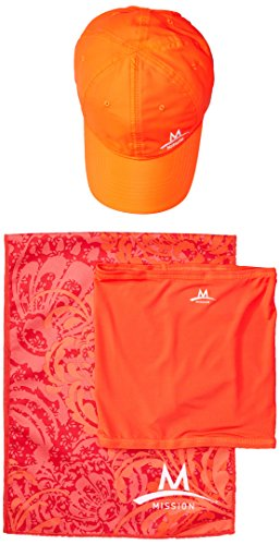 Mission Cooling Accessories Multi-Pack with 1 Performance Hat/1 Fitness Multi-Cool/1 Large Cooling Towel, Coral, One Size