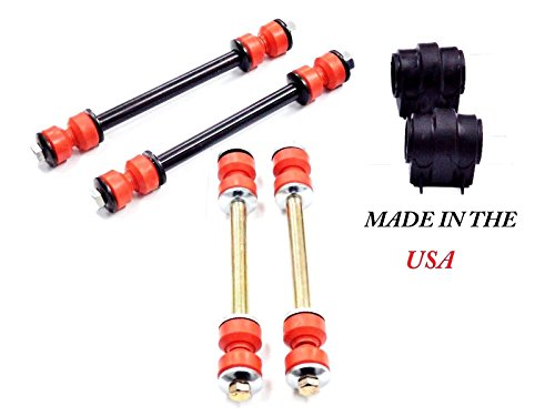Suspension Dudes 6PC Made in USA Front and Rear Sway Bar Links + Front Bushings for Ford Explorer Mercury Mountaineer 2006-2010