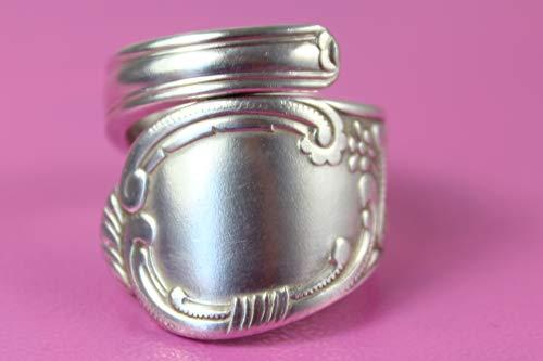 Rokoko Besteckschmuck Ring, ca. 63 (20,2) Ring aus Besteck