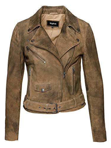 Tigha Damen Jacke Sonya, Beige (Used Sand 116), 40 (Herstellergröße: L)