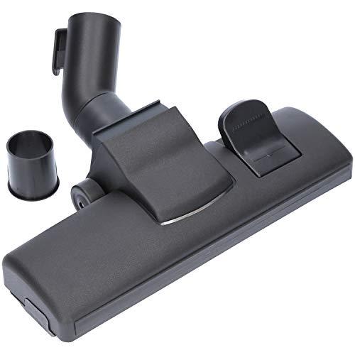 Staubsaugerdüse 35/32 mm, Universal Bodendüse aus Kunststoff mit 2 Rollen, Fadenheber für Teppichböden und Anschluss-Adapter geeignet für Staubsauger von AEG, Siemens, Miele, Bosch und weitere.