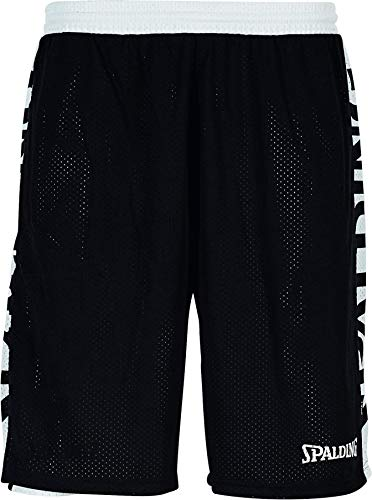 Spalding Mens 300502501_XL Shorts, Black,White