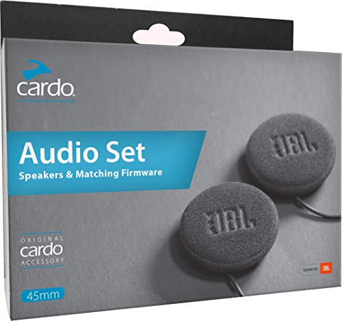 Cardo Motorcycle 45mm Audio Set, Works with Most Helmet Communicators (black, Single Pack)
