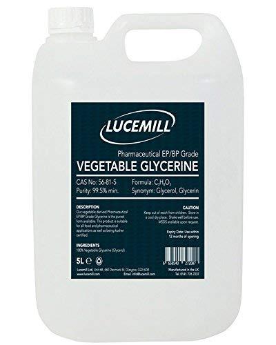 GLYCÉRINE/GLYCÉROL (VG) végétale de qualité pharmaceutique EP/BP végétale