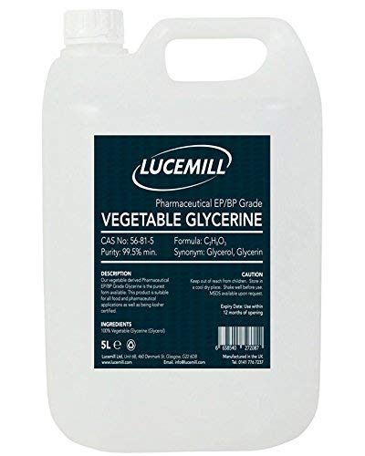5 LITRO Vegetal GLICERINA/GLICEROL (VG) Grado farmacéutico EP/BP