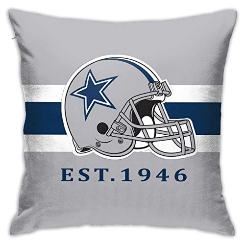 Team ProMark Dallas Cowboys Throw Pillow Covers,Ultra-Soft Square Pillowcase Decoration Cushion Case for Outdoor Patio Furniture Set18X 18 Inches
