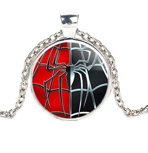 DGP Collier Pendentif Cristal Venom Spider-Man Pendentif Araignée