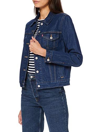 Levi's Original Trucker Chaqueta vaquera, Azul (Clean Dark Authentic 0036), Small para Mujer