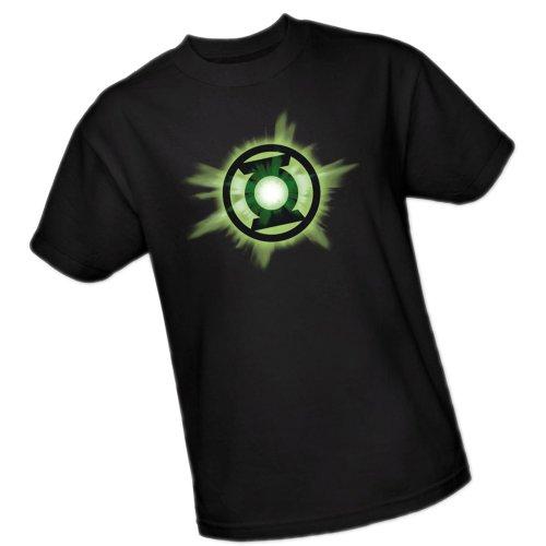 Green Lantern Glow -- Green Lantern Adult T-Shirt, Medium