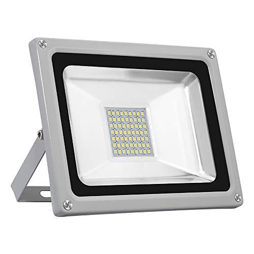 30W LED Strahler Außen,LED Fluter Wasserdicht IP65 Kaltweiss LED Flutlicht, 2800LM, Strahlwinkel 120 Grad, SMD 2835, LED Aussenstrahler für Garten, Innenhof, Platz, Factory